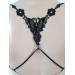 Decoratie Vlinder Zwart smal